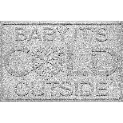 Aqua Shield Baby Its Cold Doormat Color: White