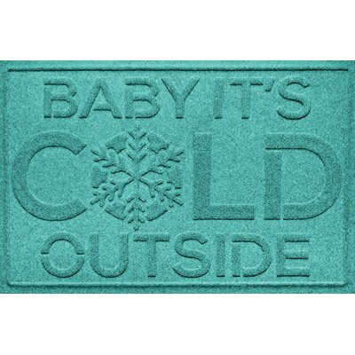 Aqua Shield Baby Its Cold Doormat Color: Aquamarine