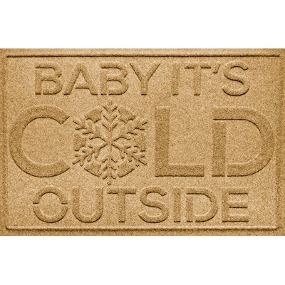 Aqua Shield Baby Its Cold Doormat Color: Gold