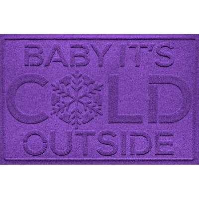 Aqua Shield Baby Its Cold Doormat Color: Purple
