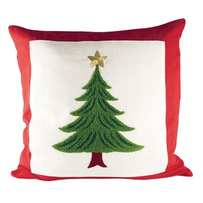 Evergreen Cotton Throw Pillow