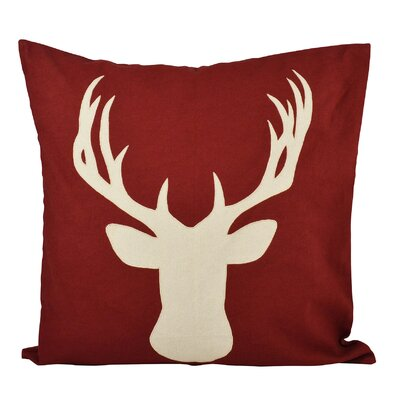 Deer Cotton Throw Pillow