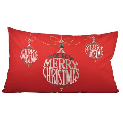 Very Merry Christmas Cotton Lumbar Pillow