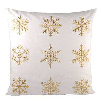 White Christmas Cotton Throw Pillow