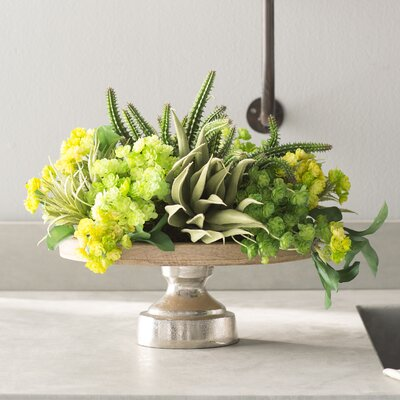 Mixed Succulent Pedestal Tray Planter