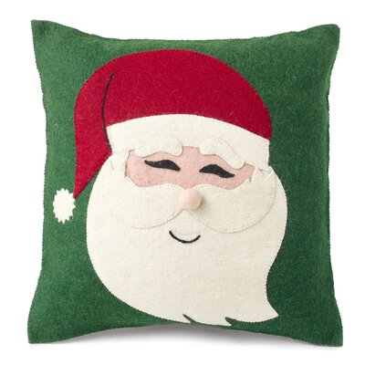 Santa Face Hand Felted Wool Pillow Cover