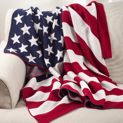 American USA Flag Stars and Stripes Throw