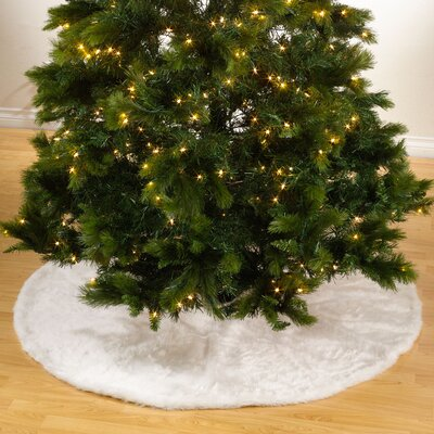 Faux Fur Holiday Christmas Tree Skirt
