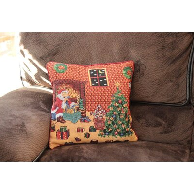 Santa Decorative Square Throw Pillow Cover