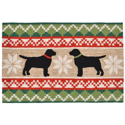 Hand-Tufted Natural Indoor/Outdoor Area Rug Rug Size: 18 x 26
