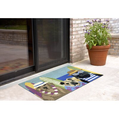 Hand-Tufted Indoor/Outdoor Area Rug Rug Size: 18 x 26