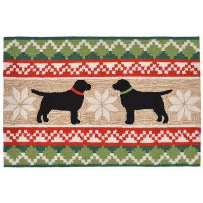 Hand-Tufted Natural Indoor/Outdoor Area Rug Rug Size: Rectangle 2 x 3