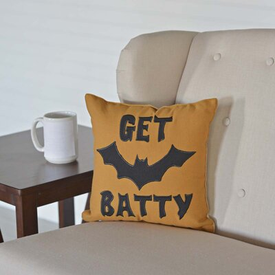 Get Batty Throw Pillow