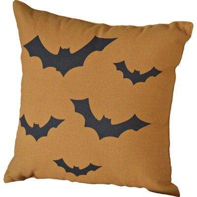 Halloween Bats Throw Pillow