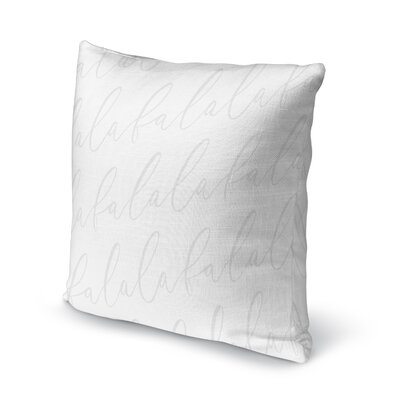 Falala Outdoor Throw Pillow Color: Light Grey, Size: 18 x 18