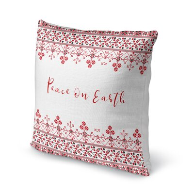 Peace on Earth Outdoor Throw Pillow Size: 18 x 18