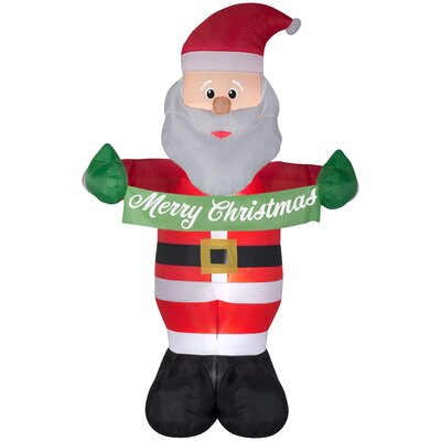 Animated Airblown Santa with Banner Inflatable THLY1633 44156818