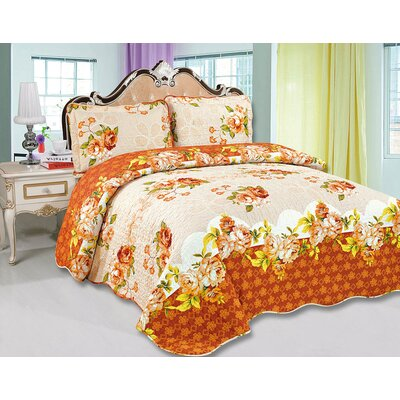 Amanda 3 Piece Quilt Set Size: Queen