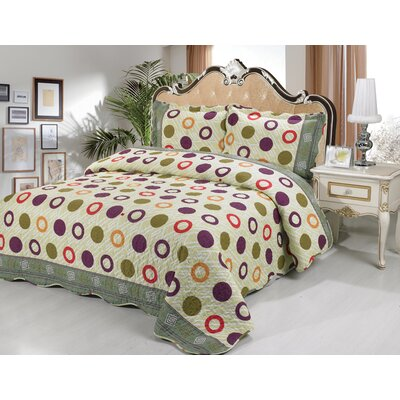 Amanda 3 Piece Quilt Set Size: King