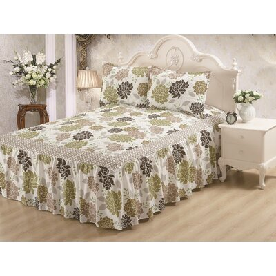 Hailey Panel Bed Skirt Size: Queen