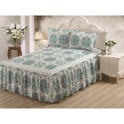 Hailey Panel Bed Skirt Size: King