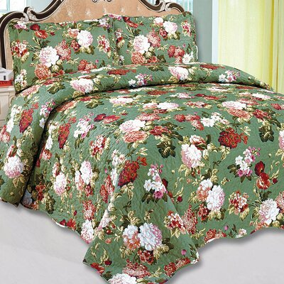 Emily 3 Piece Reversible Quilt Set Size: King