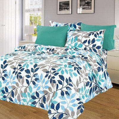 Blue and Pastel 6 Piece 1000 Thread Count Sheet Set