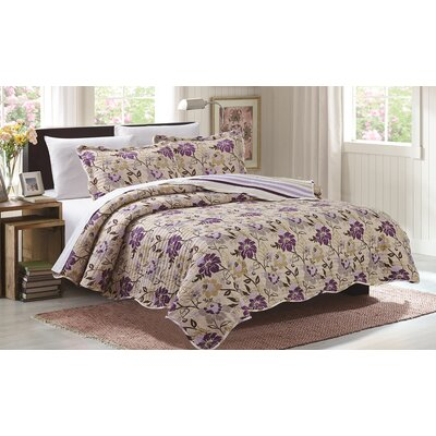 3 Piece Reversible Quilt Set Size: King