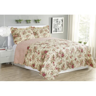 Jennifer 3 Piece Reversible Quilt Set Size: Queen