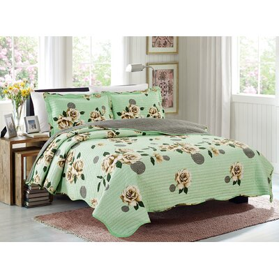 Emma 3 Piece Reversible Quilt Set Size: King
