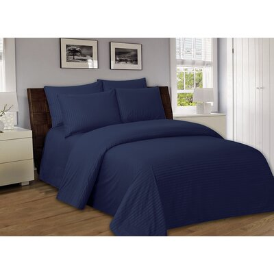 Bellefontaine 1000 Series Solid Bed Sheets Size: Twin, Color: Navy