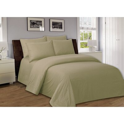 Bellefontaine 1000 Series Solid Bed Sheets Size: Twin, Color: Taupe