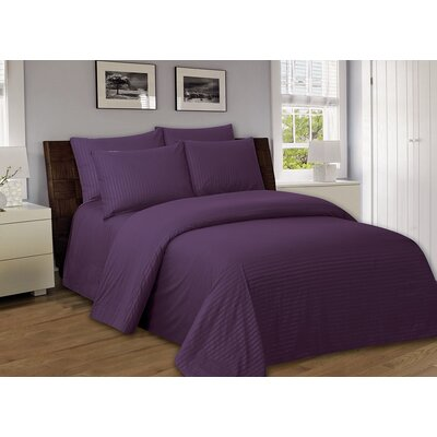Bellefontaine 1000 Series Solid Bed Sheets Size: Full, Color: Purple