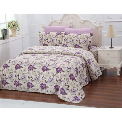 6 Piece- Belington Collection 1000 Series  Size & Color: Queen Purple