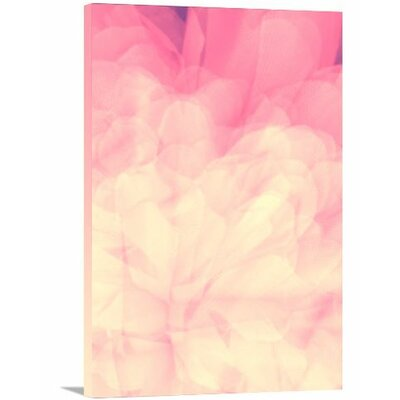 'Modern Pink Flower' Graphic Art on Wrapped Canvas Size: 24