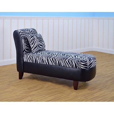 Zebra with Bravo Black Chaise Lounge