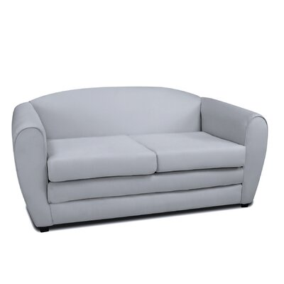 Tween Sleeper Loveseat Upholstery: Gray