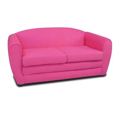 Tween Sleeper Loveseat Upholstery: Pink