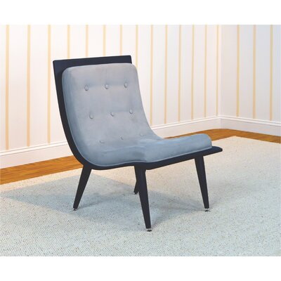 Rave Lounge Chair Upholstery: Pebble, Finish: Black