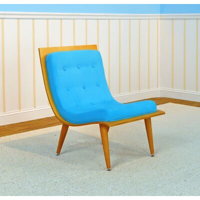 Rave Lounge Chair Color: Natural, Color: Sky Blue