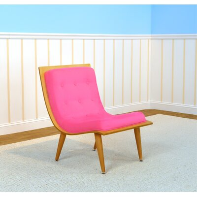 Rave Lounge Chair Color: Natural, Color: Passion Pink