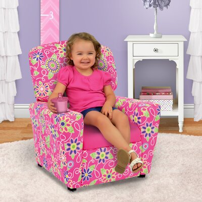 Kids Recliner with Cup Holder 2012DDPP