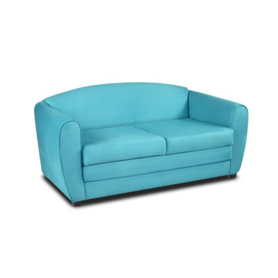 Tween Sleeper Loveseat Upholstery: Blue