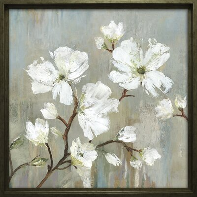 'Sweetbay Magnolia I' Framed Painting Print on Wrapped Canvas
