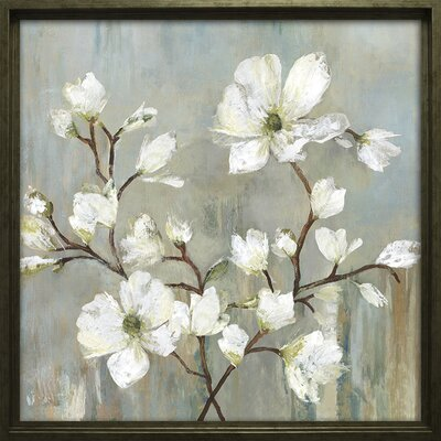 'Sweetbay Magnolia II' Framed Painting Print on Wrapped Canvas