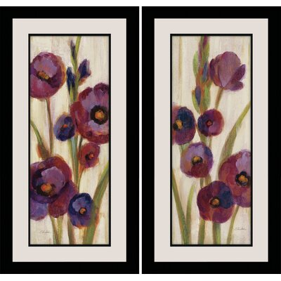 "Frosted Bloom in Neutral"" by Silvia Vassileva 2 Piece Framed Painting Print on Wrapped Canvas Set FA112347-6"