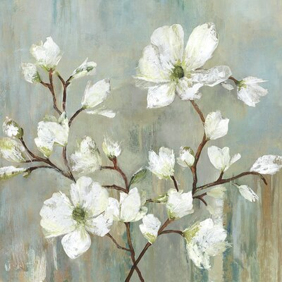 'Sweetbay Magnolia II' Painting Print Format: Wrapped Canvas, Size: 13