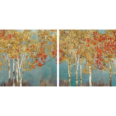 'First Moment' 2 Piece Painting Print on Wrapped Canvas Set Size: 12