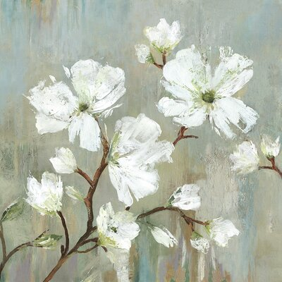 'Sweetbay Magnolia I' Painting Print on Wrapped Canvas Size: 13