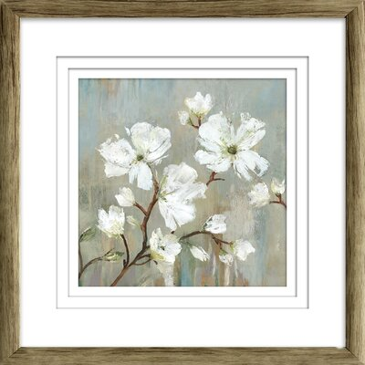 'Sweetbay Magnolia I' Painting Print Format: Brown Framed with Triple White Mat, Size: 19